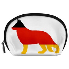 German Shepherd Flag Silo Germany Flag Accessory Pouches (Large)