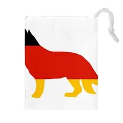 German Shepherd Flag Silo Germany Flag Drawstring Pouches (Extra Large)