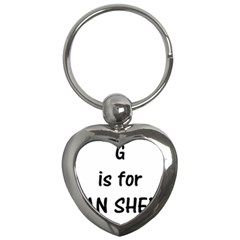 G Is For German Shepherd Key Chains (Heart)