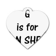 G Is For German Shepherd Dog Tag Heart (Two Sides)