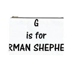G Is For German Shepherd Cosmetic Bag (Large)