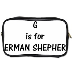 G Is For German Shepherd Toiletries Bags 2-Side