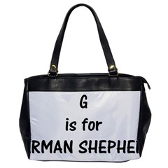 G Is For German Shepherd Office Handbags