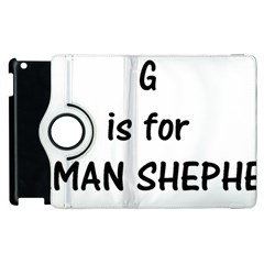 G Is For German Shepherd Apple iPad 3/4 Flip 360 Case