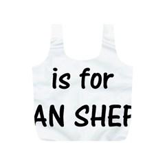 G Is For German Shepherd Full Print Recycle Bags (S)