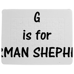 G Is For German Shepherd Jigsaw Puzzle Photo Stand (Rectangular)