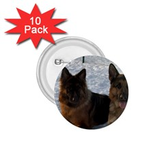 2 German Shepherds 1.75  Buttons (10 pack)