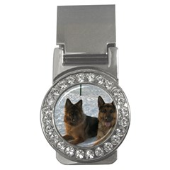 2 German Shepherds Money Clips (CZ)