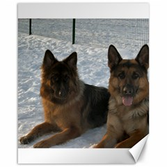 2 German Shepherds Canvas 16  x 20