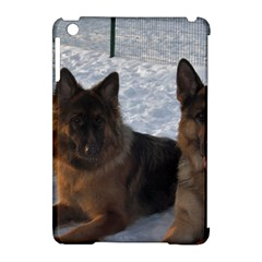 2 German Shepherds Apple iPad Mini Hardshell Case (Compatible with Smart Cover)