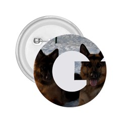 2 German Shepherds In Letter G 2.25  Buttons