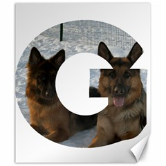 2 German Shepherds In Letter G Canvas 20  x 24