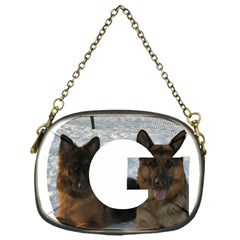 2 German Shepherds In Letter G Chain Purses (One Side)