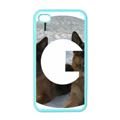 2 German Shepherds In Letter G Apple iPhone 4 Case (Color)