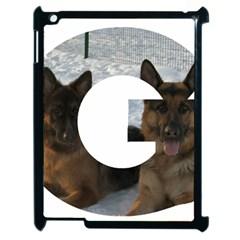 2 German Shepherds In Letter G Apple iPad 2 Case (Black)
