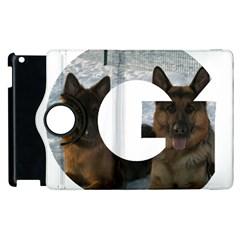 2 German Shepherds In Letter G Apple iPad 2 Flip 360 Case