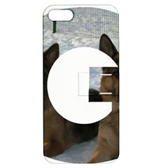 2 German Shepherds In Letter G Apple iPhone 5 Hardshell Case with Stand