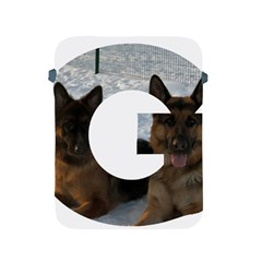 2 German Shepherds In Letter G Apple iPad 2/3/4 Protective Soft Cases