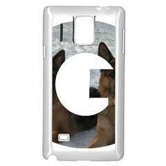 2 German Shepherds In Letter G Samsung Galaxy Note 4 Case (White)