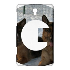 2 German Shepherds In Letter G Samsung Galaxy Tab S (8.4 ) Hardshell Case