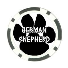 German Shepherd Paw Name Poker Chip Card Guard (10 pack)
