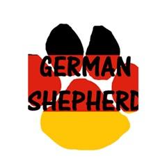 German Shepherd Name Paw Germany Flag Paw 5.5  x 8.5  Notebooks