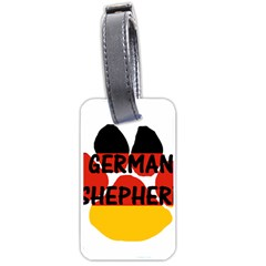 German Shepherd Name Paw Germany Flag Paw Luggage Tags (Two Sides)