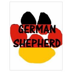 German Shepherd Name Paw Germany Flag Paw Drawstring Bag (Large)