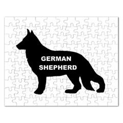 German Shepherd Name Silo Rectangular Jigsaw Puzzl