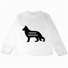 German Shepherd Name Silo Kids Long Sleeve T-Shirts