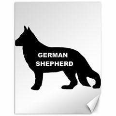 German Shepherd Name Silo Canvas 12  x 16