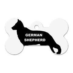 German Shepherd Name Silo Dog Tag Bone (One Side)