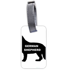 German Shepherd Name Silo Luggage Tags (Two Sides)