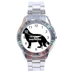 German Shepherd Name Silo Stainless Steel Analogue Watch