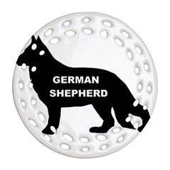 German Shepherd Name Silo Round Filigree Ornament (Two Sides)