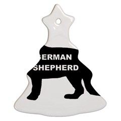 German Shepherd Name Silo Christmas Tree Ornament (Two Sides)