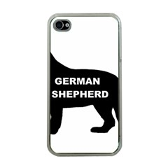 German Shepherd Name Silo Apple iPhone 4 Case (Clear)