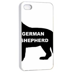German Shepherd Name Silo Apple iPhone 4/4s Seamless Case (White)