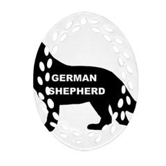 German Shepherd Name Silo Ornament (Oval Filigree)