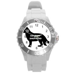 German Shepherd Name Silo Round Plastic Sport Watch (L)