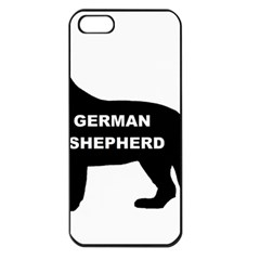 German Shepherd Name Silo Apple iPhone 5 Seamless Case (Black)
