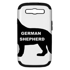 German Shepherd Name Silo Samsung Galaxy S III Hardshell Case (PC+Silicone)