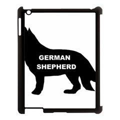 German Shepherd Name Silo Apple iPad 3/4 Case (Black)