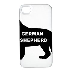 German Shepherd Name Silo Apple iPhone 4/4S Hardshell Case with Stand