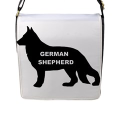 German Shepherd Name Silo Flap Messenger Bag (L)
