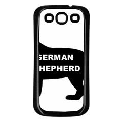 German Shepherd Name Silo Samsung Galaxy S3 Back Case (Black)