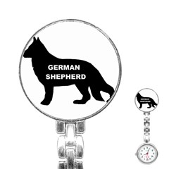German Shepherd Name Silo Stainless Steel Nurses Watch