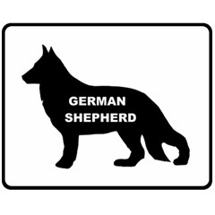 German Shepherd Name Silo Double Sided Fleece Blanket (Medium)