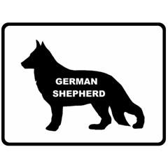 German Shepherd Name Silo Double Sided Fleece Blanket (Large)
