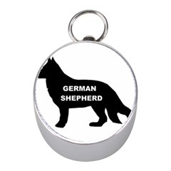 German Shepherd Name Silo Mini Silver Compasses